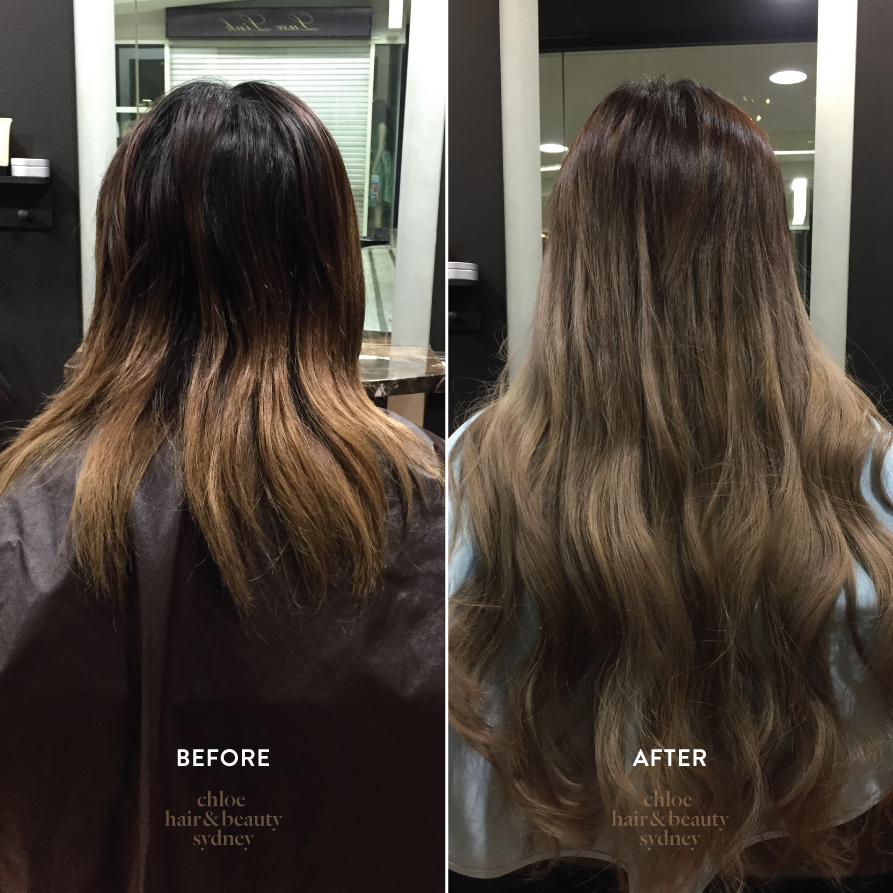 Before after chloe hair beauty sydney hair extensions colour pmusecretfo Images